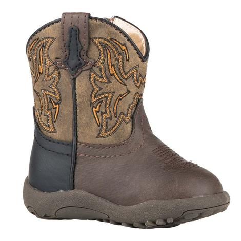 Roper Brown and Tan Infant Boots