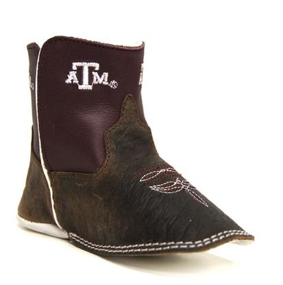 Anderson Bean Infant Maroon Texas A & M Baby Beans Square Toe Boots