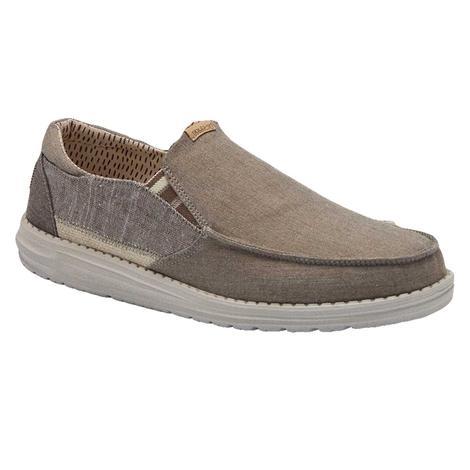 Hey Dude Thad Chambray Walnut Men's Shoes