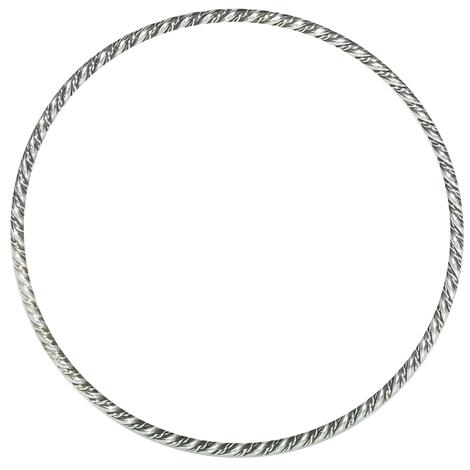 Silver Bangle With Twist Detail