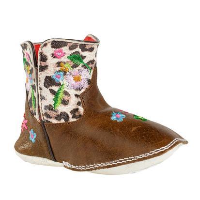 Macie Bean Leopard Floral Baby Bean Boots
