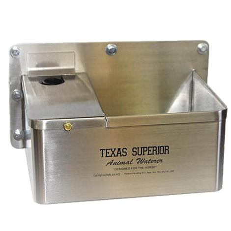 Texas Superior Stainless Steel Animal Waterer with Float