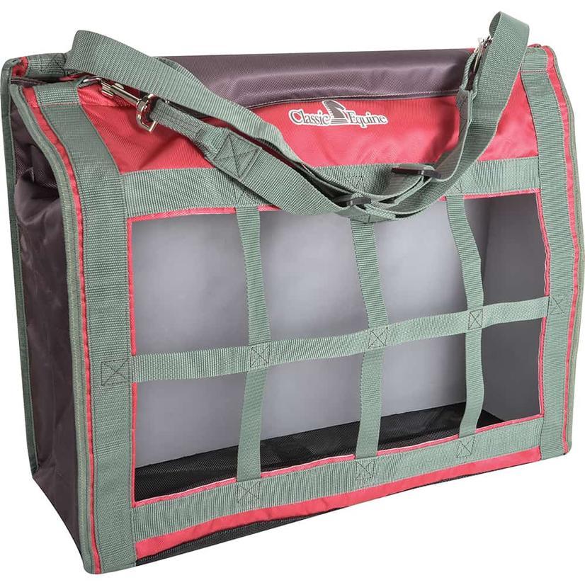 Classic Equine Top Load Hay Bag 2021 CRANBERRY
