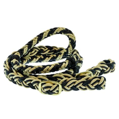 Mustang Cable Knotted Barrel Reins Assorted Colors