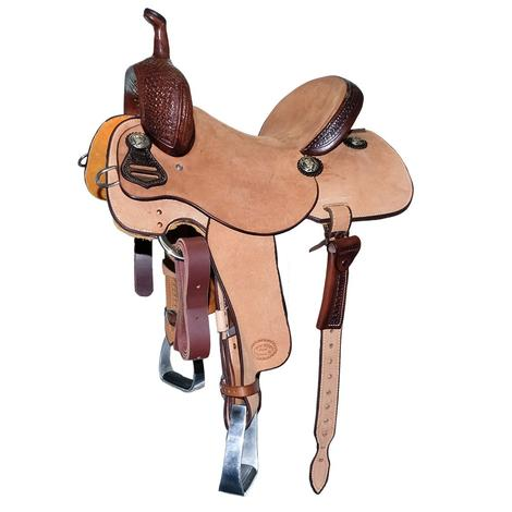 STT Quarter Chocolate Windmill Tool and Natural Roughout Barrel Saddle