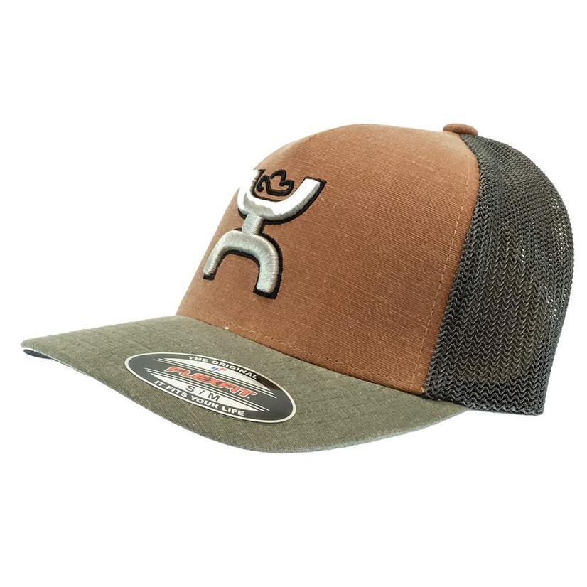 Hooey Coach Rust And Grey Meshback Cap