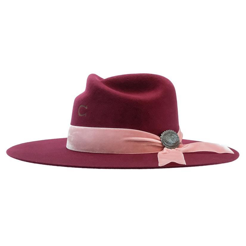 Charlie 1 Horse Lady Bandit Burgundy Felt Hat