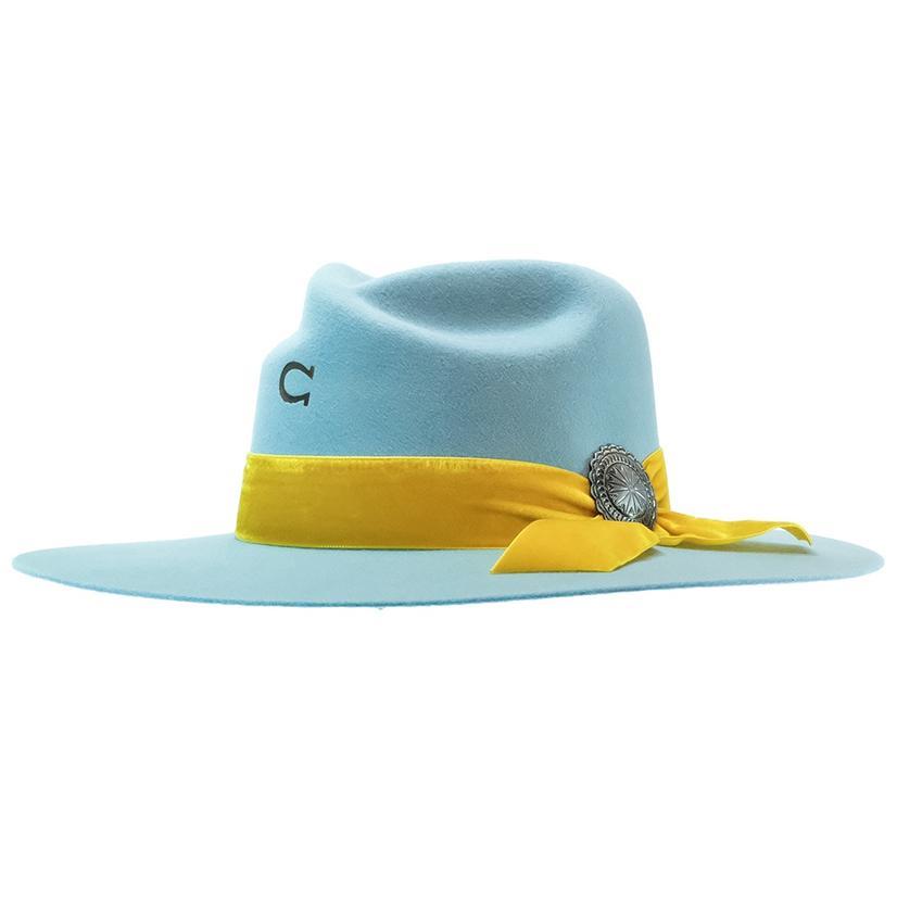 Charlie 1 Horse Sundance Baby Blue Felt Hat