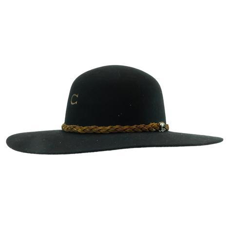 Charlie 1 Horse Wanderlust Jr Black Felt Youth Hat