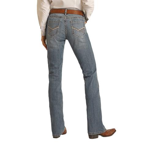 Rock and Roll Cowgirl Medium Vintage Riding Jeans