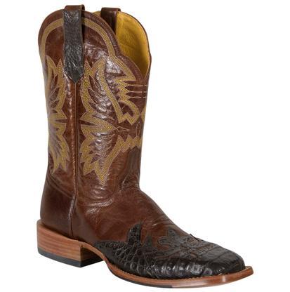 Cinch Men's Burnished Chestnut Goat Cowboy Boots