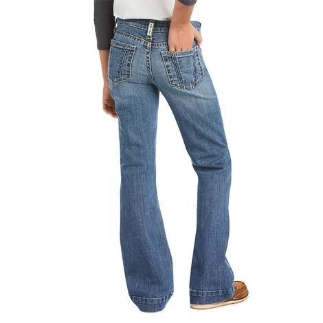 Ariat REAL Rylee Wide Leg Eleanor Wash Girl's Jeans