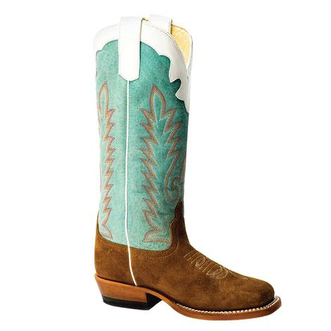 Anderson Bean Coyote Sand Sensation Turquoise Top Kid's Boots