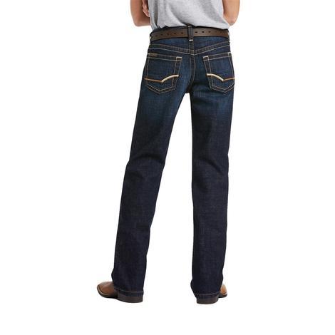 Ariat B5 Straight Leg Slim Fit Dark Wash Boy's Jeans