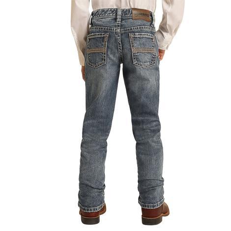 Rock and Roll Cowboy Vintage Revolver Slim Fit Medium Wash Boy's Jeans