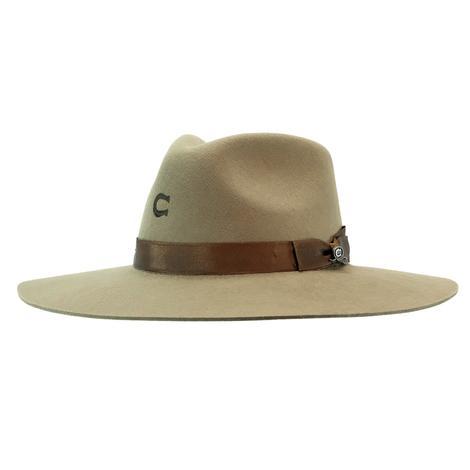 Charlie 1 Horse Highway Olive Drab Felt Hat