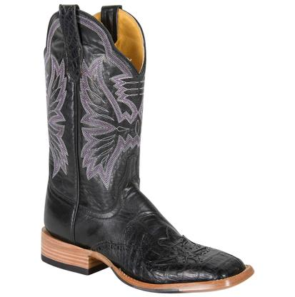 Cinch Women's Black & Purple Winged Mica Caiman Square Toe Cowgirl Boots
