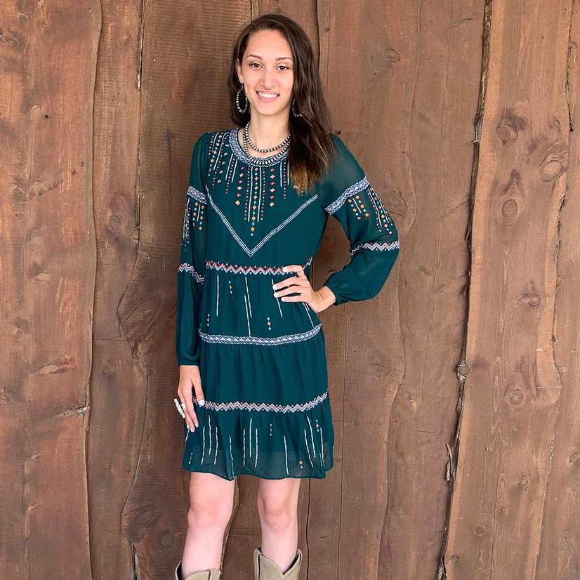 Andree By Unit Women's Plus Hunter Green Dress