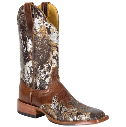 Cinch Rich Chocolate Camo Cowhide Cowgirl Boots