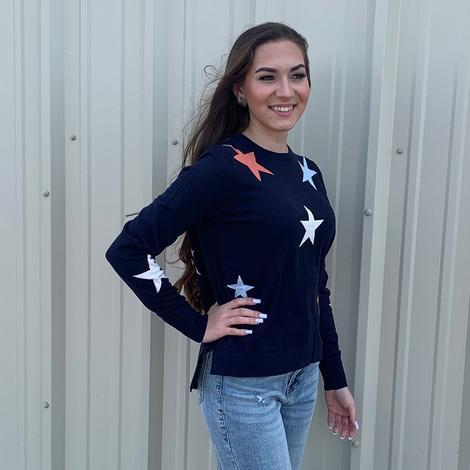 THML Women's Navy Star Sweater