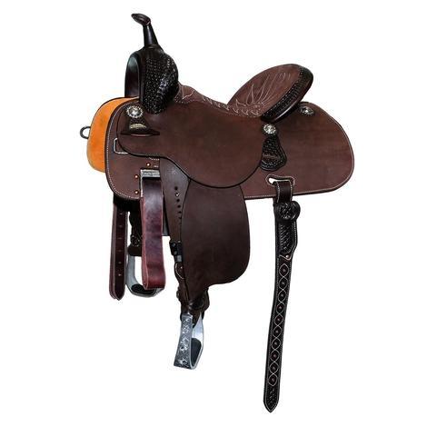 Martin Stingray Chocolate Suede Waffle Tool Barrel Saddle