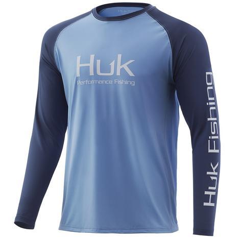 HUK Double Header Dusk Blue Men's Long Sleeve