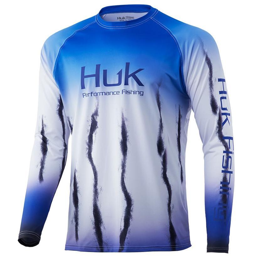 Huk Flare Fade Deep Cobalt Men's Long Sleeve