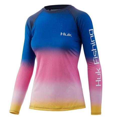 HUK Printed Pursuit Habanero Gold Women's Long Sleeve