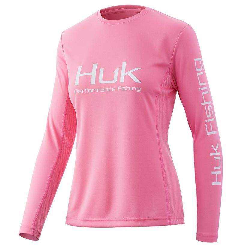 Huk Icon X Salmon Pink Women's Long Sleeve