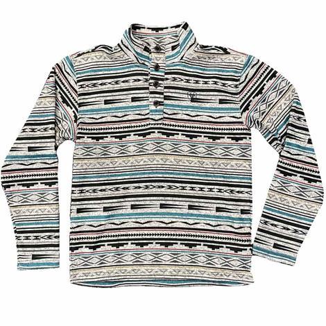 Ariat Wesley Dark Grey Serape Print Men's Fleece Sweater