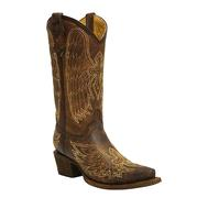 Corral Kids' Gold Wing & Cross Cowgirl Boots