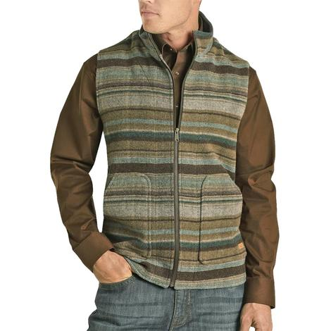 Powder River Men's Heathered Serape Stripe Wool Vest