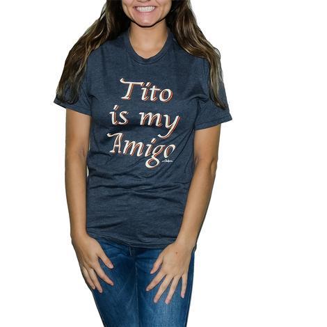 Cheeky's Tito is My Amigo Navy Women's Tee
