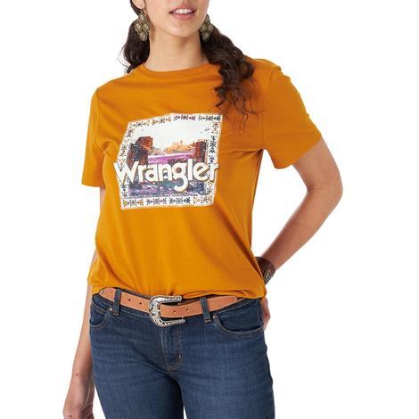 Wrangler Orange Graphic Women's Tee