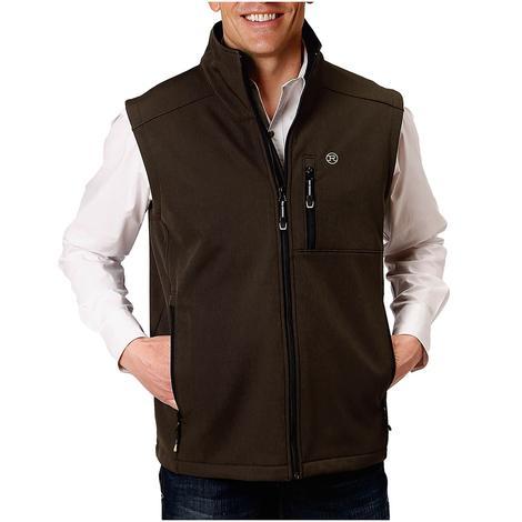 Roper Brown Tech Softshell Men's Vest