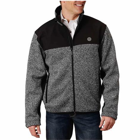 Roper Grey and Black Softshell Combo Men's Jacket
