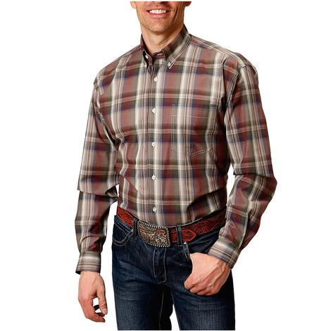 Roper Multi Plaid Long Sleeve Buttondown Men's Shirt