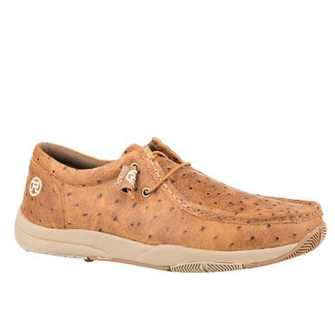 Roper Clear Cut Ostrich Lace up Men's Shoe