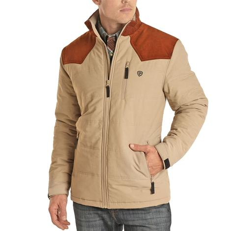 Powder River Tan Performance Poly Fill Quilted Men's Jacket
