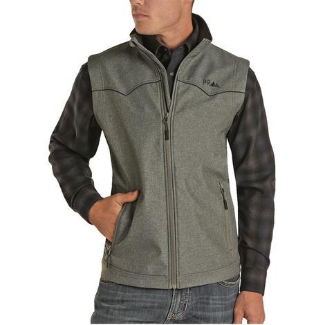 Powder River Charcoal Melange Rodeo Men's Vest