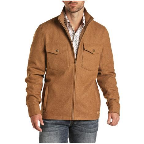 Powder River Solid Camel Men's Wool Coat Jacket