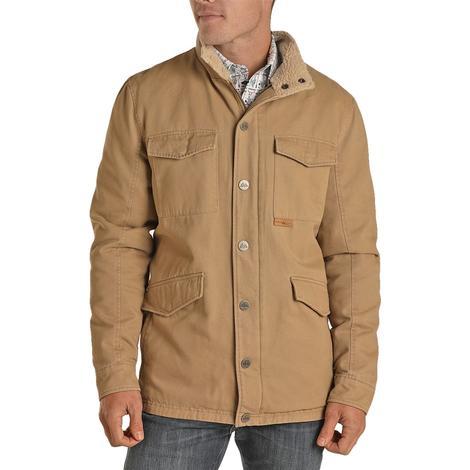 Powder River Brown Brushed Cotton Canvas Men's Jacket