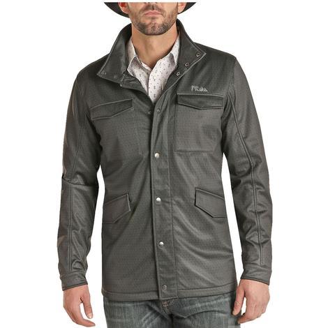 Powder River Charcoal Herringbone Softshell Men's Jacket