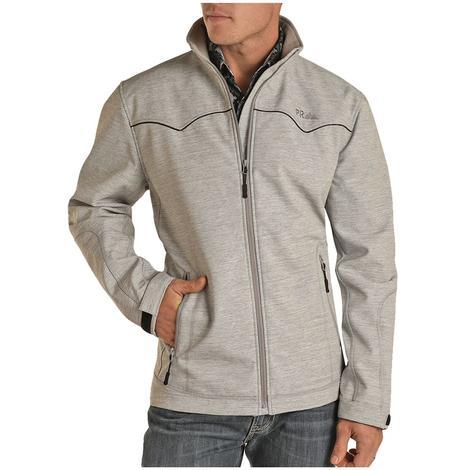 Powder River Grey Silver Melange Bonded Men's Jacket