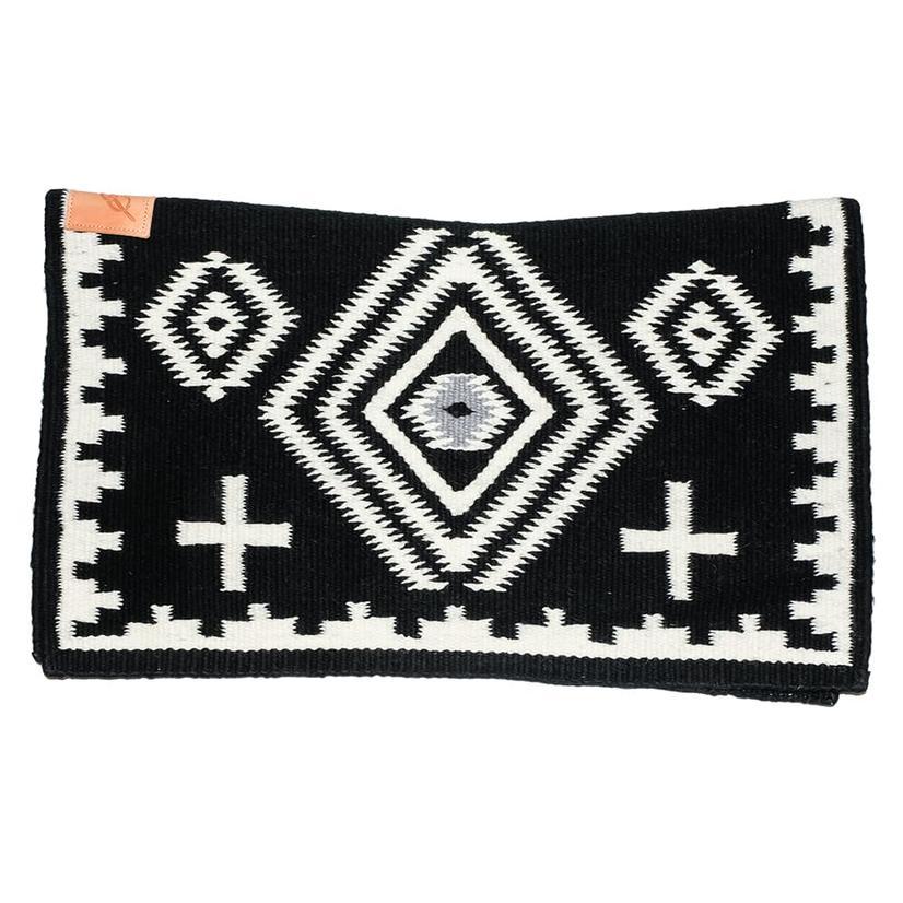 Cuttinup Show Blankets - The Nancy Contoured Show Blanket 34x40 BLACK/WHITE