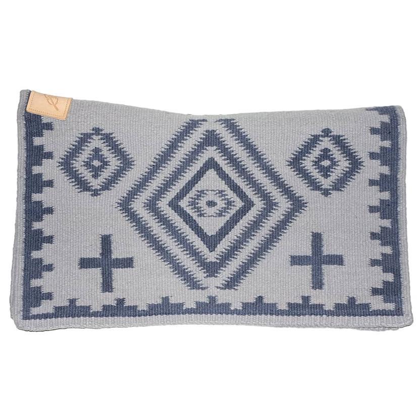 Cuttinup Show Blankets - The Nancy Contoured Show Blanket 34x40 BLUE_GREY/BLUE