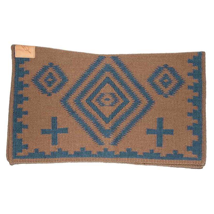 Cuttinup Show Blankets - The Nancy Contoured Show Blanket 34x40 BROWN/BLUE