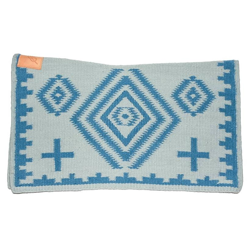 Cuttinup Show Blankets - The Nancy Contoured Show Blanket 34x40 LIGHT_BLUE/BLUE