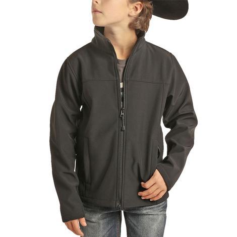 Powder River Boy's Black Performance Softshell Jacket