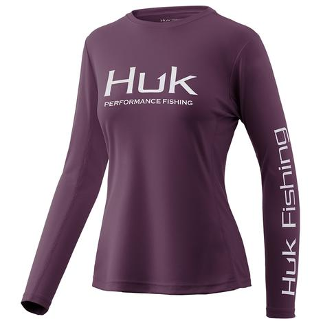 HUK Icon Blackberry Long Sleeve Women's Shirt